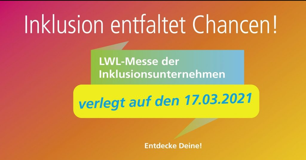 5. LWL-Messe - Ankündigung neuer Termin am 17.03.2021